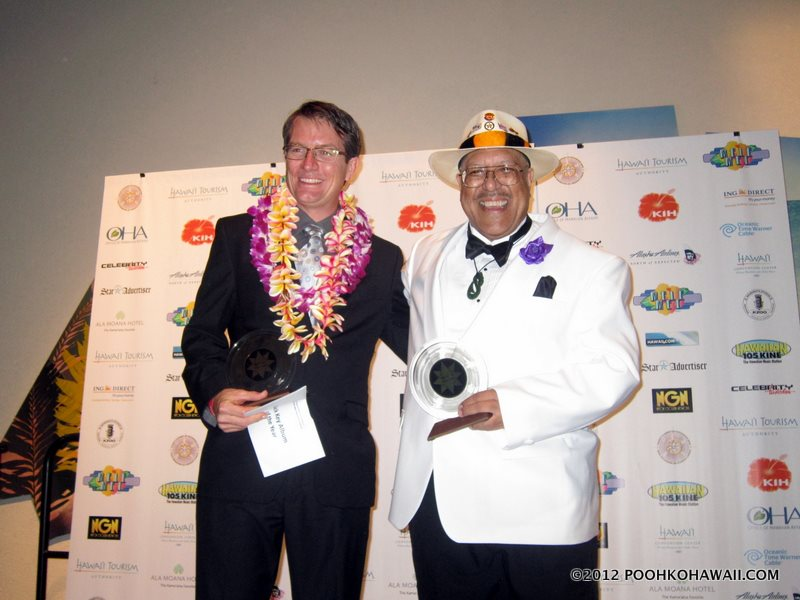 Dennis & Stephen at the 2012 Na Hoku Hanohano Awards