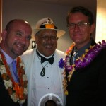 Dennis, Stephen and Shawn Moseley at the 2012 Na Hoku Hanohano Awards