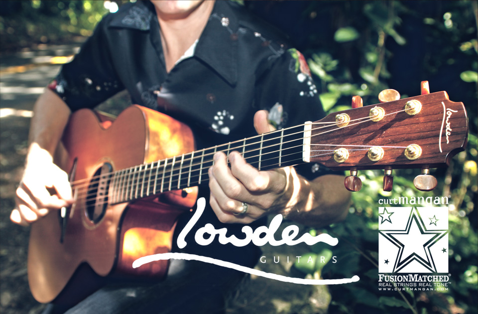 Lowden guitars and Curt Mangan strings