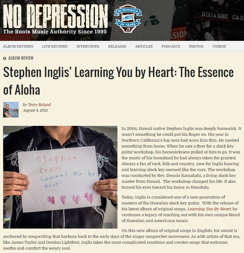 Stephen Inglis' Learning You by Heart: The Essence of Aloha